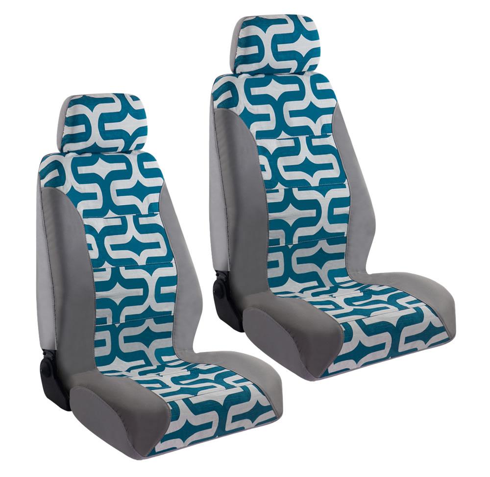 Haegan USA Made Seat Cover - Aquarius Cotton w/ Headrests - LARGE (PAIR) at Sears.com